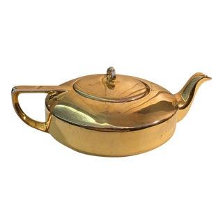 Mid-Century Modern Austrian Gold Tea Pot
