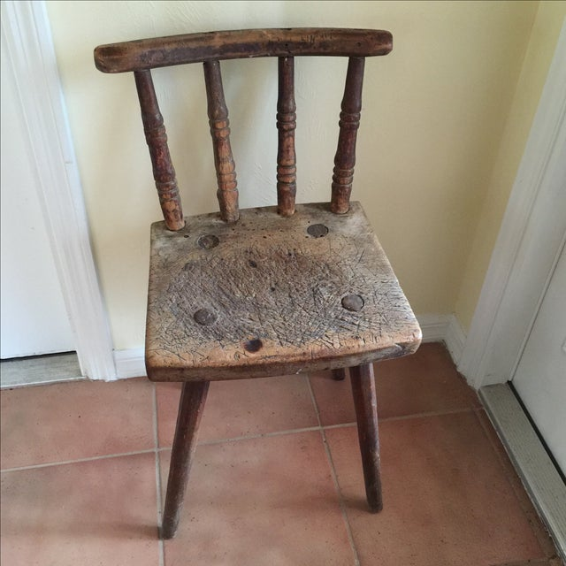 Handmade Pegged Chair - Image 2 of 5