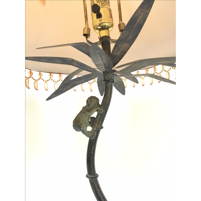 Bronze Monkey Palm Tree Lamps Pair Chairish