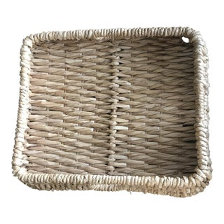 Handcrafted Oversized Woven Serving Tray / Basket With Handles