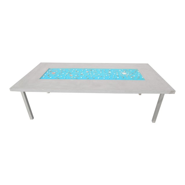 Organic Seashells Modern Dining Table - Image 2 of 7