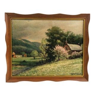 Framed Robert Wood Print Early Spring
