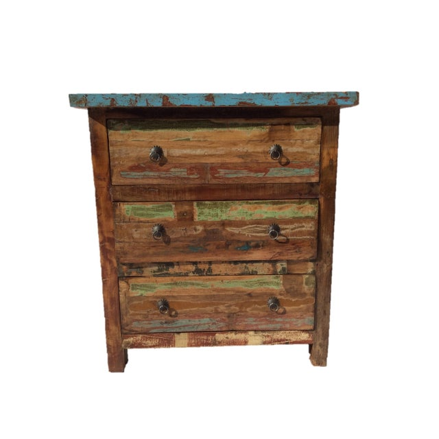 Reclaimed Wood Three Drawer Dresser - Image 1 of 3