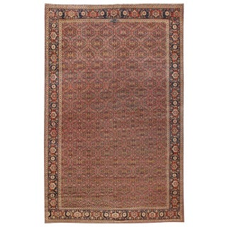 Exceptional Extremely Finely Woven Antique Herat Carpet
