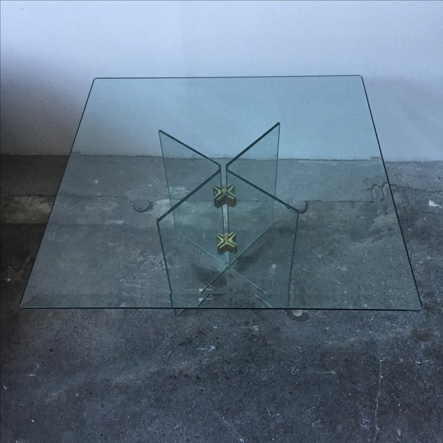 Leon Rosen Pace Collection Glass Coffee Table - Image 6 of 10