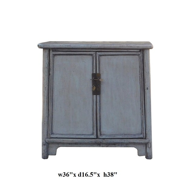 Chinese Rustic Gray Side Cabinet - Image 6 of 6
