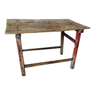 Late 1800s Mexican Cypress Wood Table