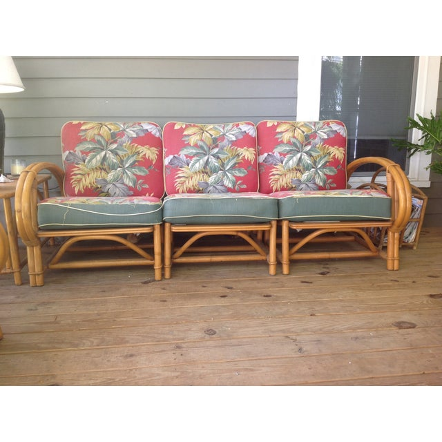 Vintage Ficks Reed 3 Seat Sectional Sofa Chairish