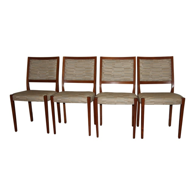 Svegards Markaryd Mid-Century Solid Teak Dining Chairs - Set of 4 - Image 1 of 5