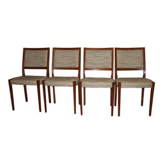 Svegards Markaryd Mid-Century Solid Teak Dining Chairs - Set of 4