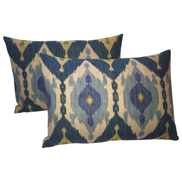 Oscar De La Renta Kublai Ikat Pillows - Pair - Image 1 of 5