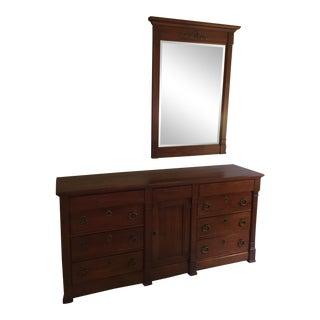 Henredon Cherry Dresser and Mirror