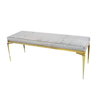 CF Modern Custom Framed Brass Stiletto Bench