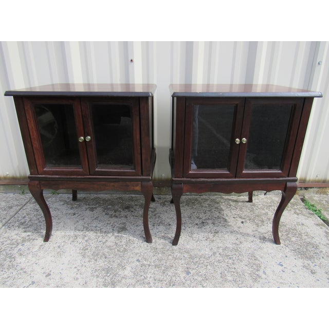French Provincial Apartment Nightstands - Pair - Image 7 of 7