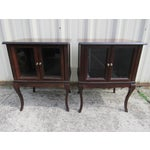 Image of French Provincial Apartment Nightstands - Pair