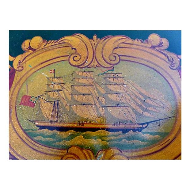 Image of Painted Nautical Theme Dresser