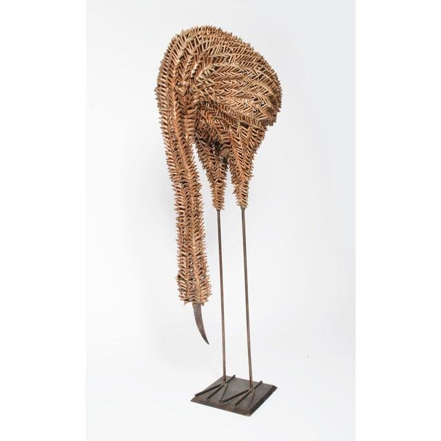 Bamboo and Metal Emu Sculpture - Image 5 of 5