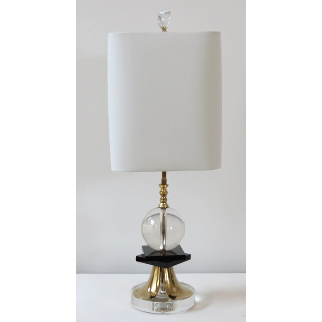 1970's Brass and Black Glass Lamps - Pair - Image 5 of 5