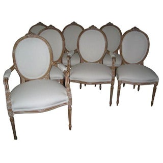 Louis XVI Style Bow Knot Dining Chairs - Set of 8