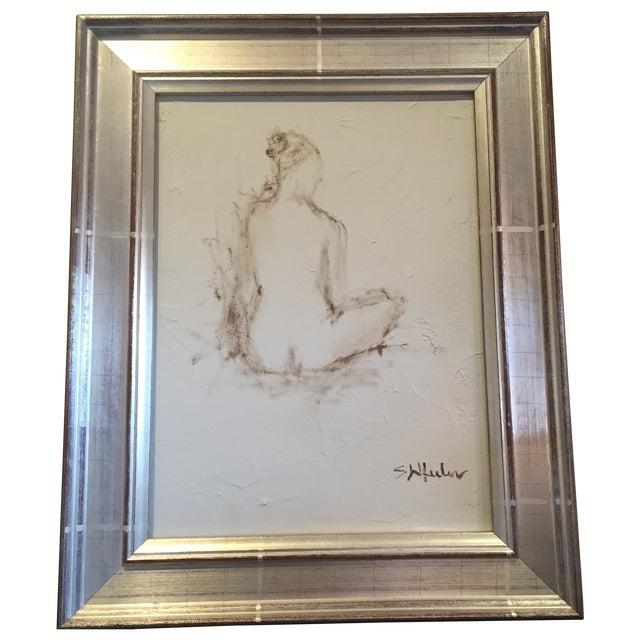 Stephanie Wheeler Framed Nude Figure Painting - Image 1 of 4