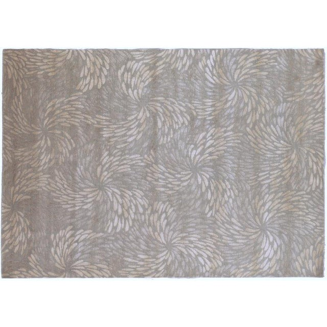 """Hand Knotted Tibetan Wool and Silk Rug - 5'8"""" x 8' - Image 1 of 2"""