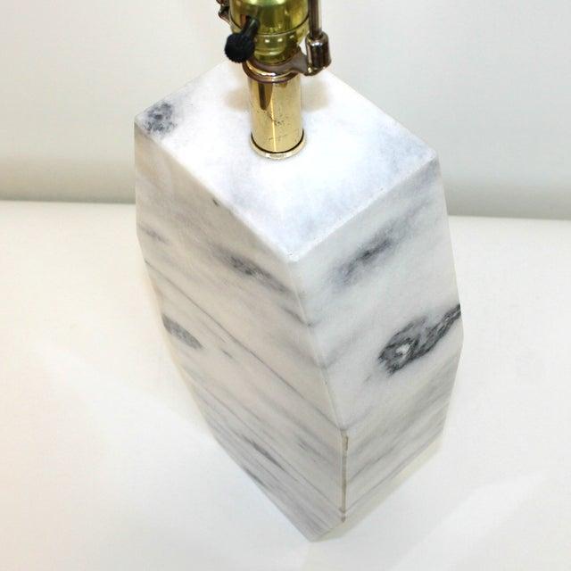 Image of Mid-Century Italian Marble Monolith Lamp