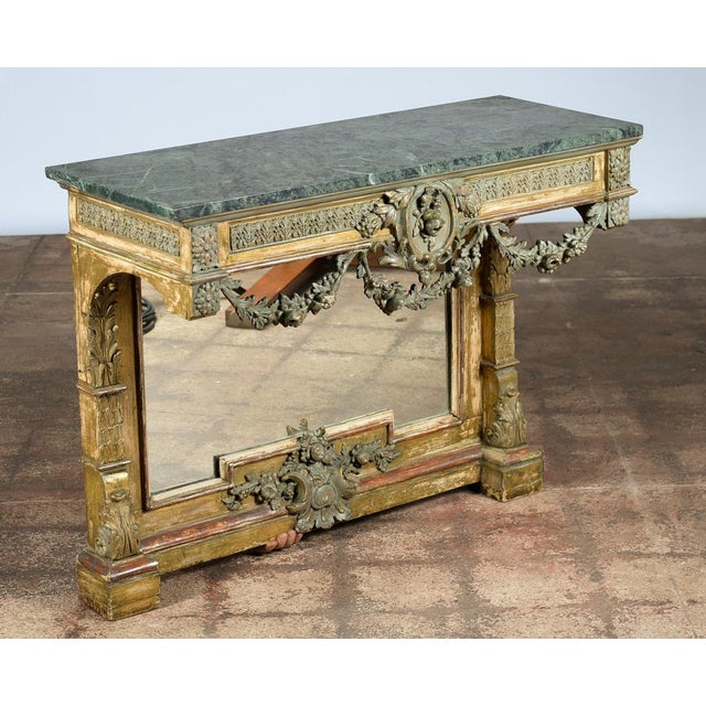 19th-Century French Marble Top Console - Image 2 of 10