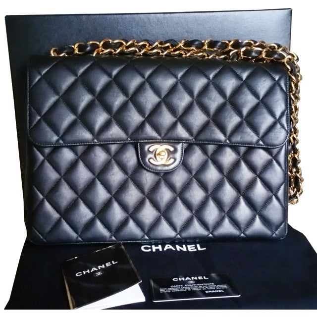 Image of Chanel Jumbo Double Chain Flap Bag
