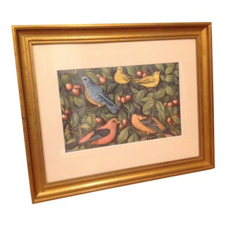 American Birds in a Cherry Tree Framed Print