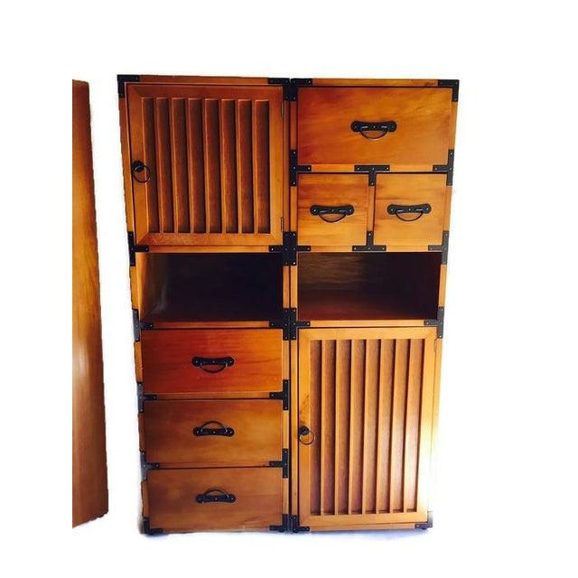 Vintage 3-Piece Tansu Style Modular Storage Unit - Image 4 of 6