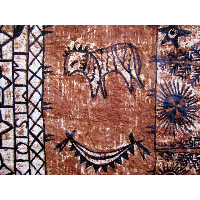 Monumental Tapa Cloth Panels - A Pair - Image 4 of 4