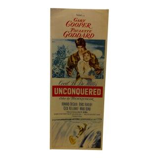 "Vintage Movie Poster ""Unconquered"" Gary Cooper & Paulette Goddard - 1955"