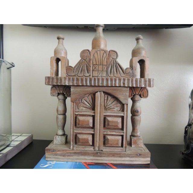 Vintage Wood Indian Hand-Carved Shrine - Image 5 of 5