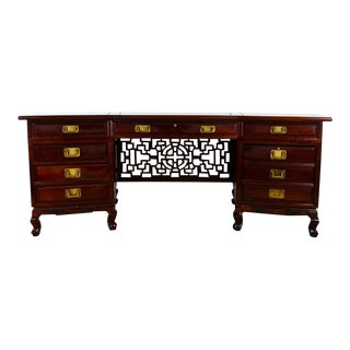 Chinese Transitional Period Aesthetics Movement Executive Desk
