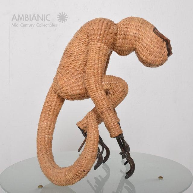 Mario Lopez Torres Wicker Monkey Sculpture - Image 8 of 10