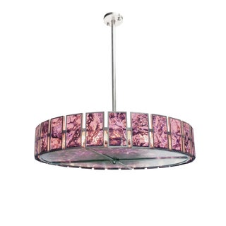 Wrought Iron & Amethyst Veneer Miguel Chandelier