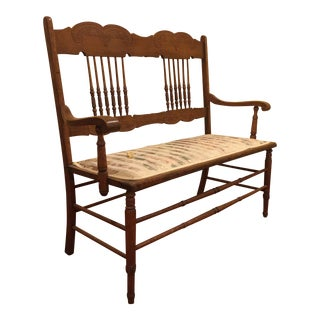 Antique Oak Settee