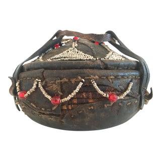 Vintage Ethiopian Lidded Injera Basket