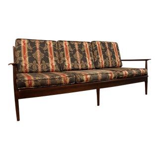 Mid-Century Walnut Open Arm Sofa
