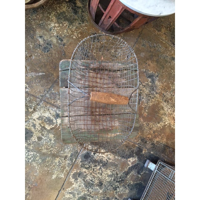 Image of Vintage Iron Basket - Oval