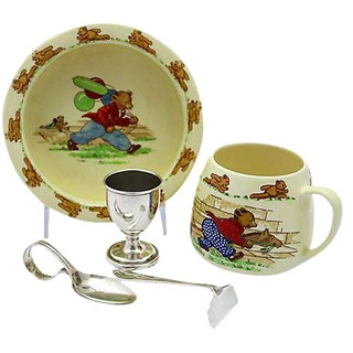 Mid-Century English Baby's Breakfast Set