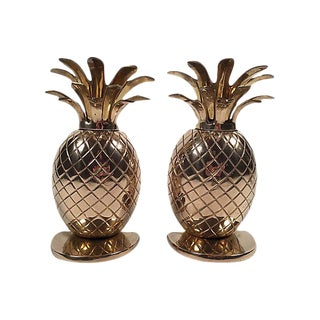 Boho Chic Pineapple Bookends - A Pair
