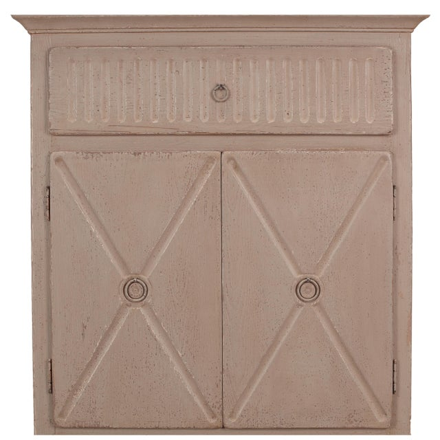 Sarreid LTD Matte Gray Badia Cupboard - Image 5 of 6