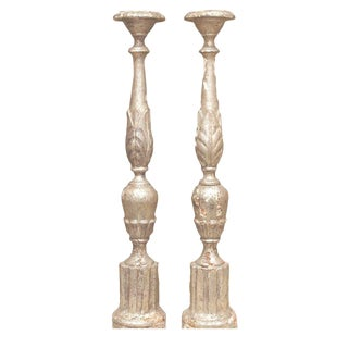 18th Century French Silver-Gilt Candlesticks