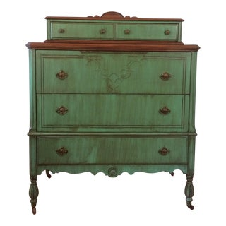 Two Tone Antique Highboy Chest of Drawers