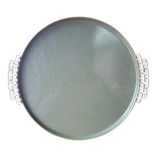 Moire Mid-Century Hand Made Tin Tray