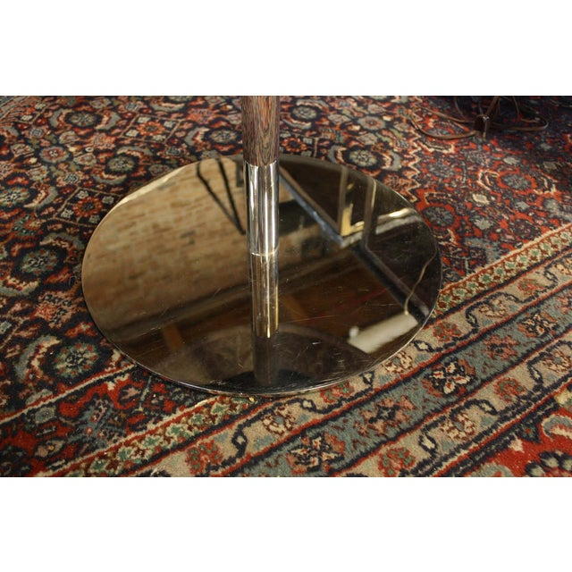 Image of Vintage Zographos Maroon Marble Top Side Table