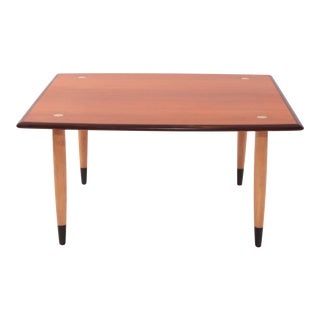 Teak Beech & Brass Occasional Table by Dux