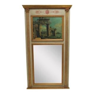 Diane Watts Corinthian Columns Louis XV Hanging Trumeau Mirror
