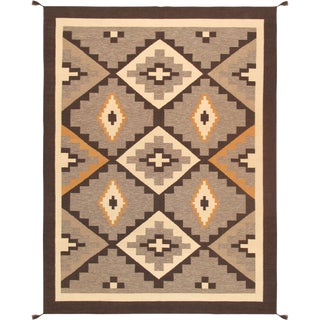 "Navajo Style Hand-Woven Area Rug - 8'11"" X 11'10"""
